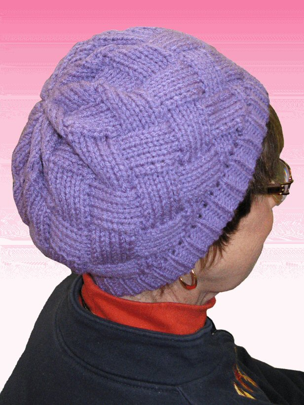 Hand Knitted Hat Patterns : Hand Knitted Entrelac Hat