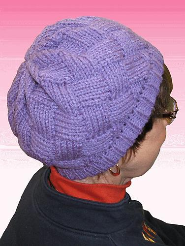 Hand Knitted Entrelac Hat Pattern